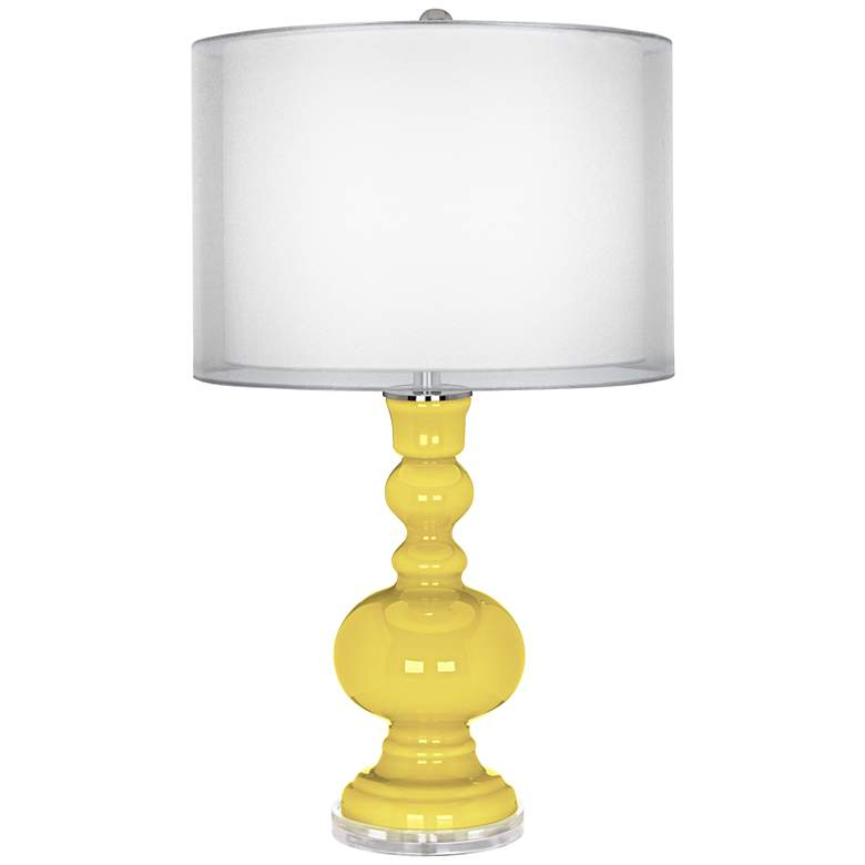 Lemon Twist Sheer Double Shade Apothecary Table Lamp