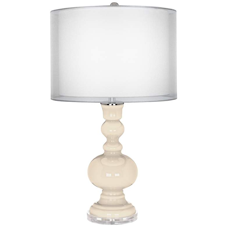 Steamed Milk Sheer Double Shade Apothecary Table Lamp