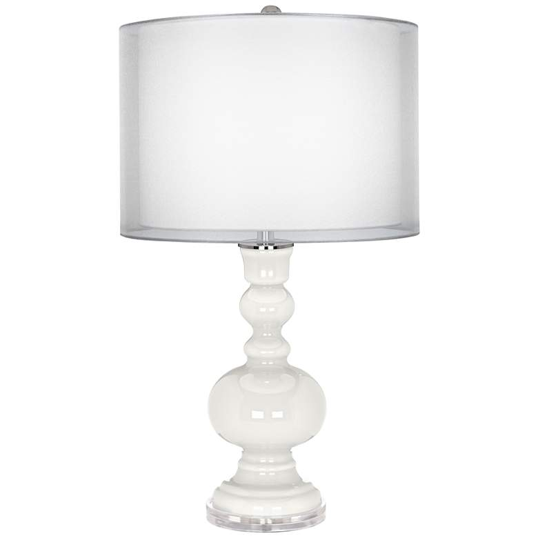 Winter White Sheer Double Shade Apothecary Table Lamp
