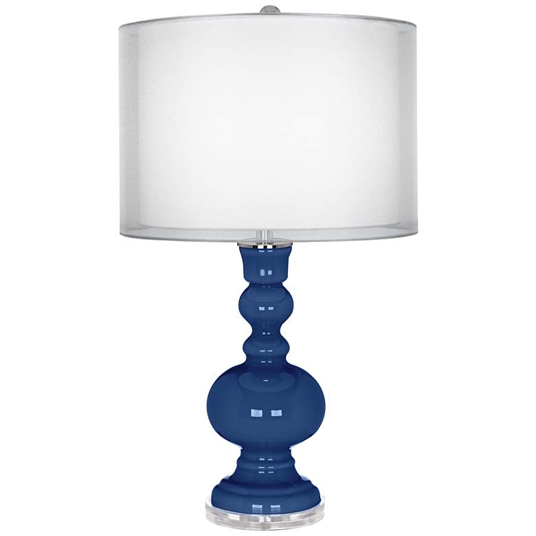 Monaco Blue Sheer Double Shade Apothecary Table Lamp