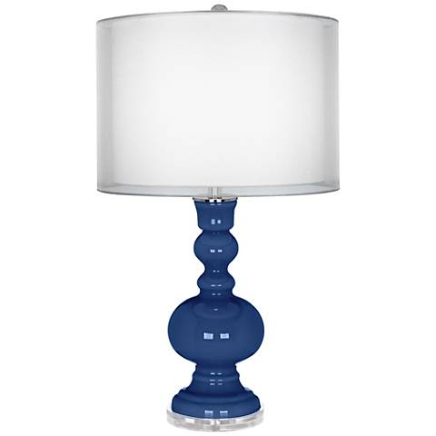Monaco Blue Sheer Double Shade Apothecary Table Lamp