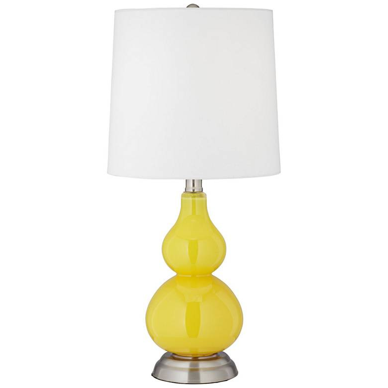Citrus Yellow Small Gourd Accent Table Lamp