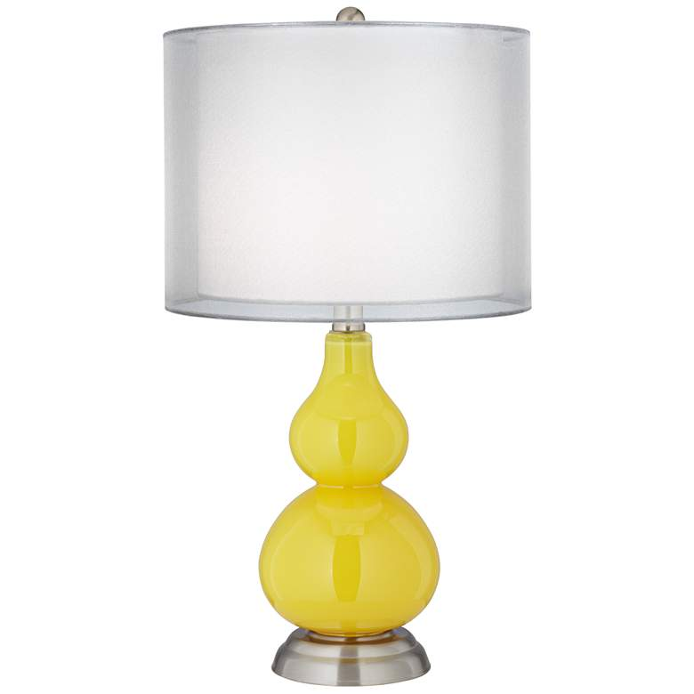 Citrus Yellow Double Shade Small Gourd Accent Table