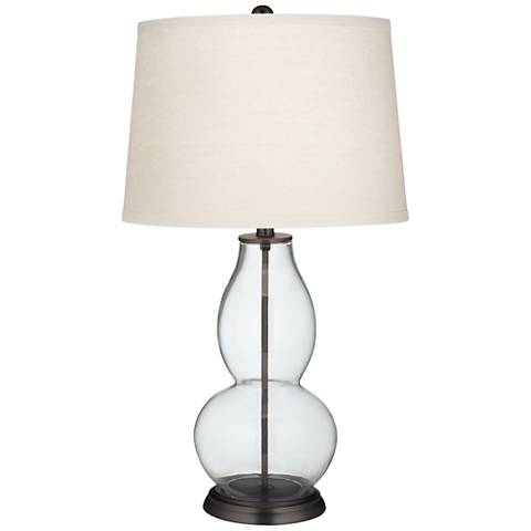 Fillable Clear Glass Double Gourd Table Lamp