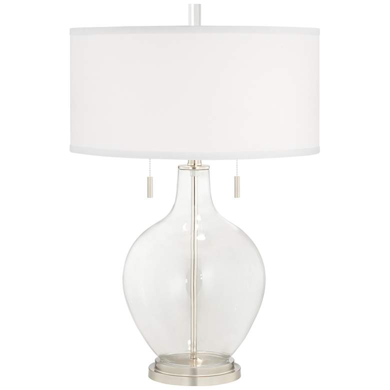 Clear Glass Fillable Toby Table Lamp