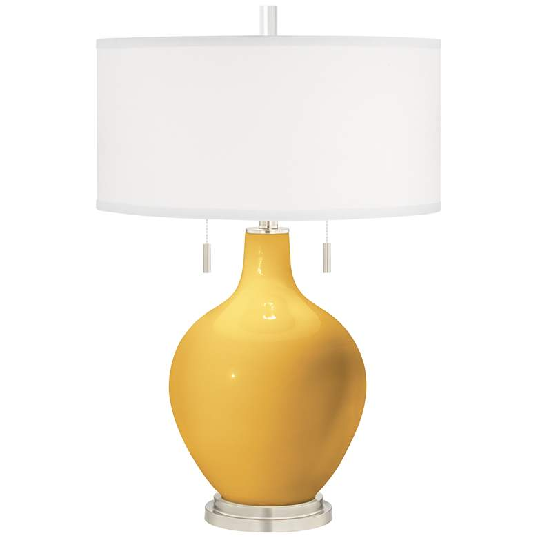 Goldenrod Toby Table Lamp