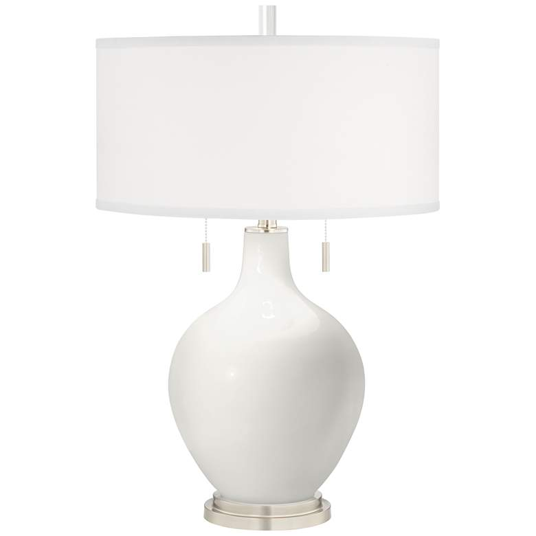 Winter White Toby Table Lamp