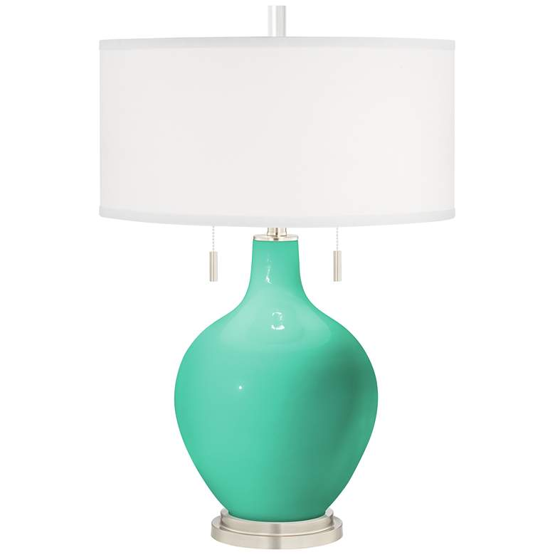 Turquoise Toby Modern Table Lamp by Color Plus