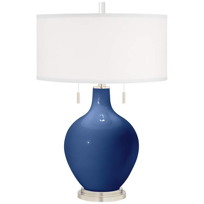 Monaco Blue Toby Table Lamp