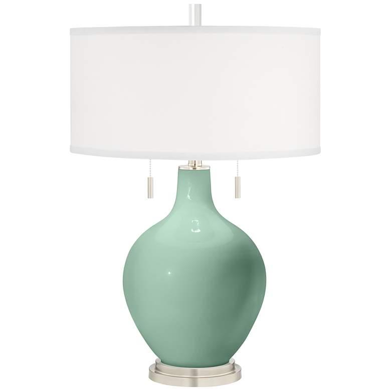 Grayed Jade Toby Table Lamp