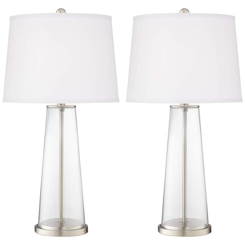Clear Glass Fillable Leo Table Lamp Set of 2
