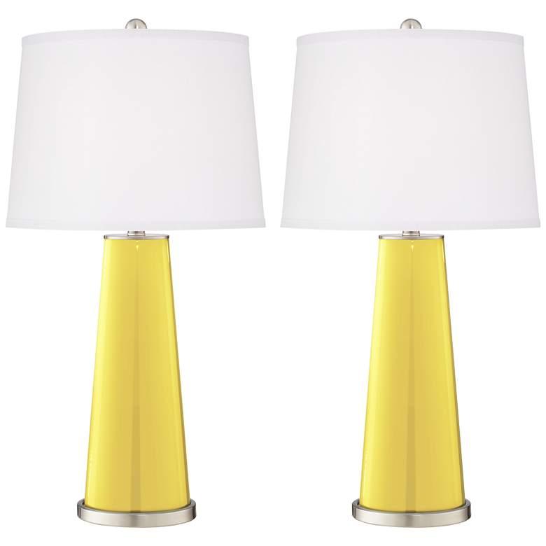 Lemon Twist Leo Table Lamp Set of 2