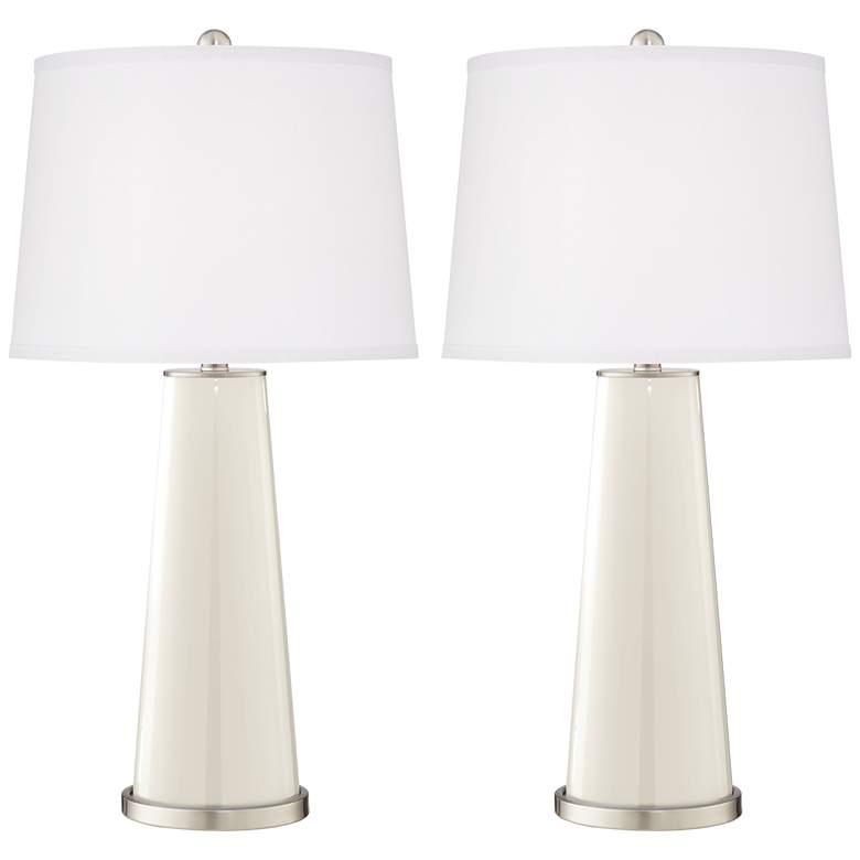West Highland White Leo Table Lamp Set of 2