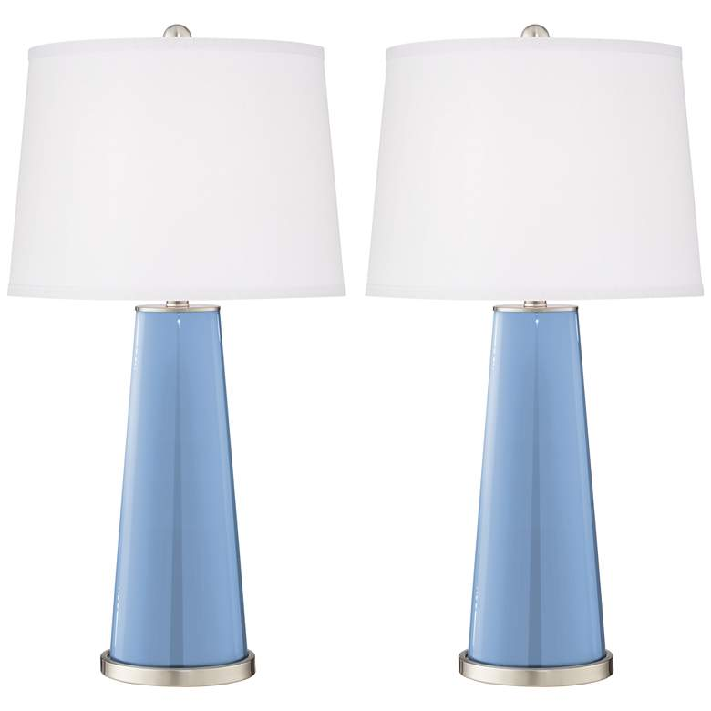 Placid Blue Leo Table Lamps Set of 2