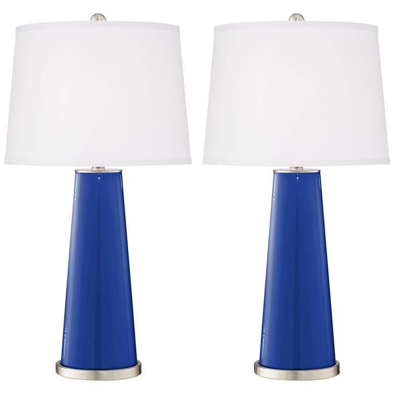 Dazzling Blue Leo Table Lamp Set of 2