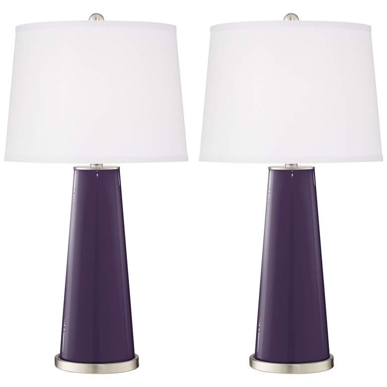 Quixotic Plum Leo Table Lamp Set of 2