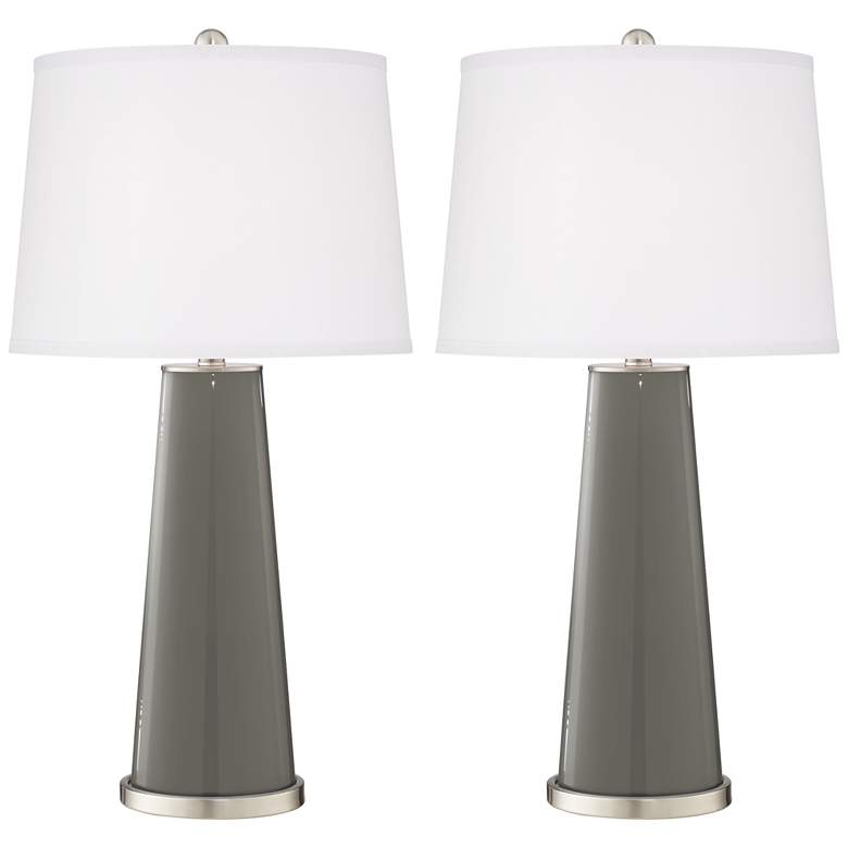 Gauntlet Gray Leo Table Lamp Set of 2