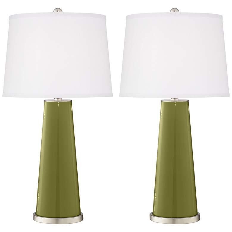 Rural Green Leo Table Lamp Set of 2