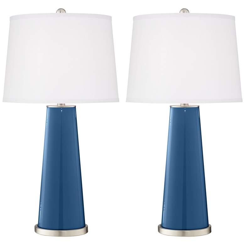 Regatta Blue Leo Table Lamp Set of 2