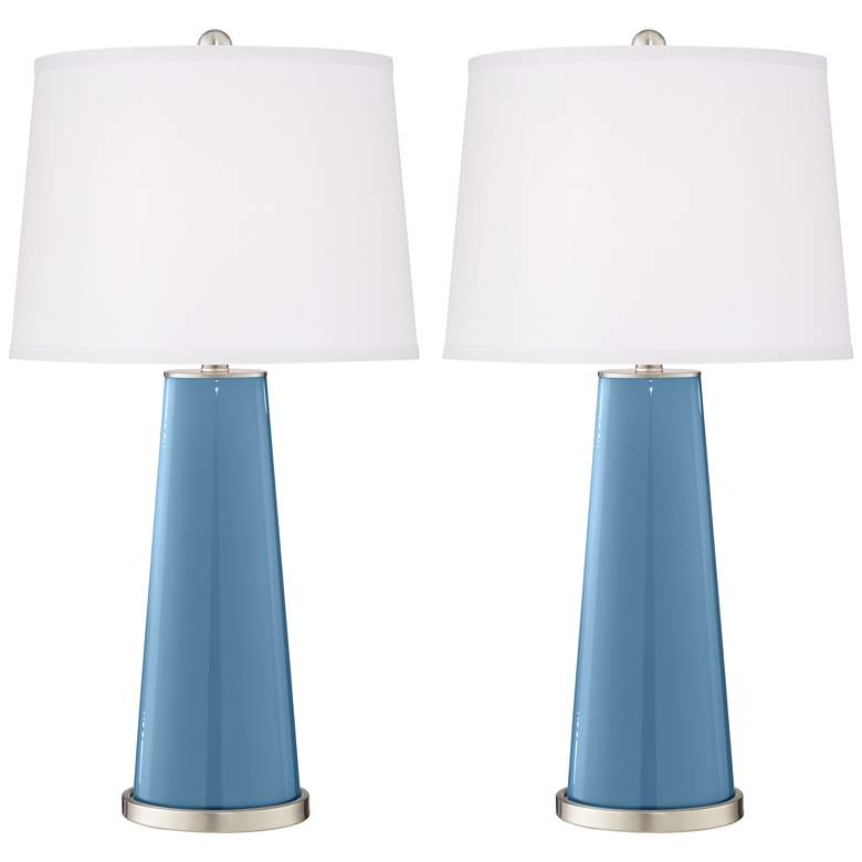 Secure Blue Leo Table Lamp Set of 2