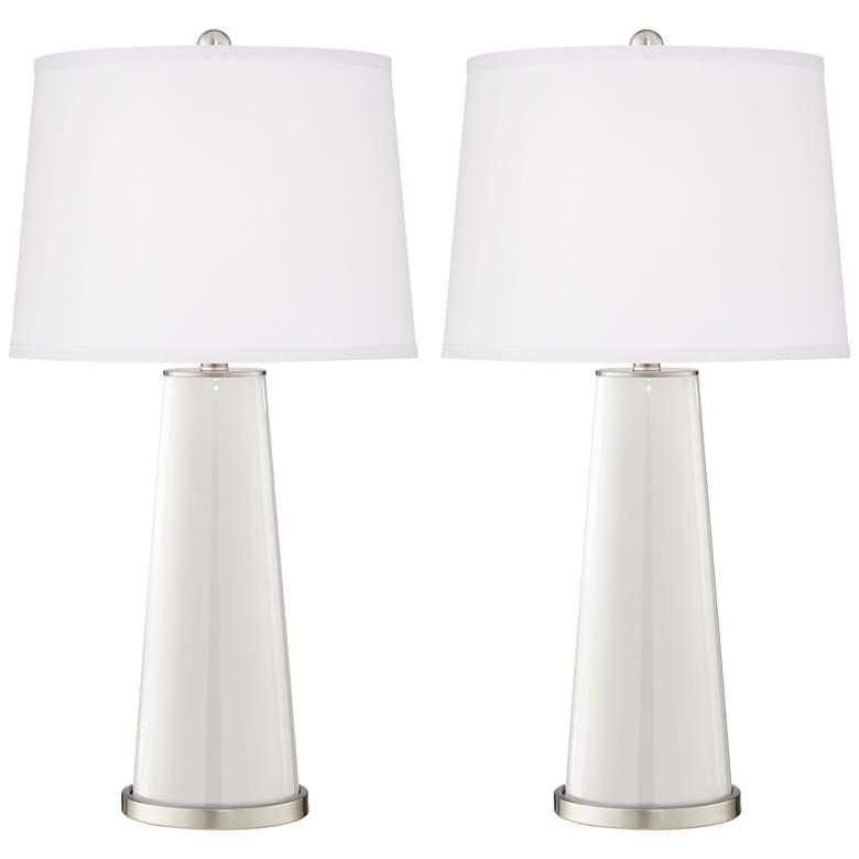 Winter White Leo Table Lamp Set of 2