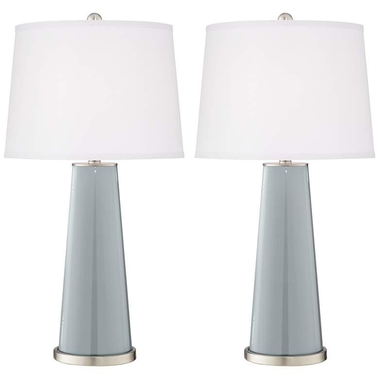 Uncertain Gray Leo Table Lamp Set of 2
