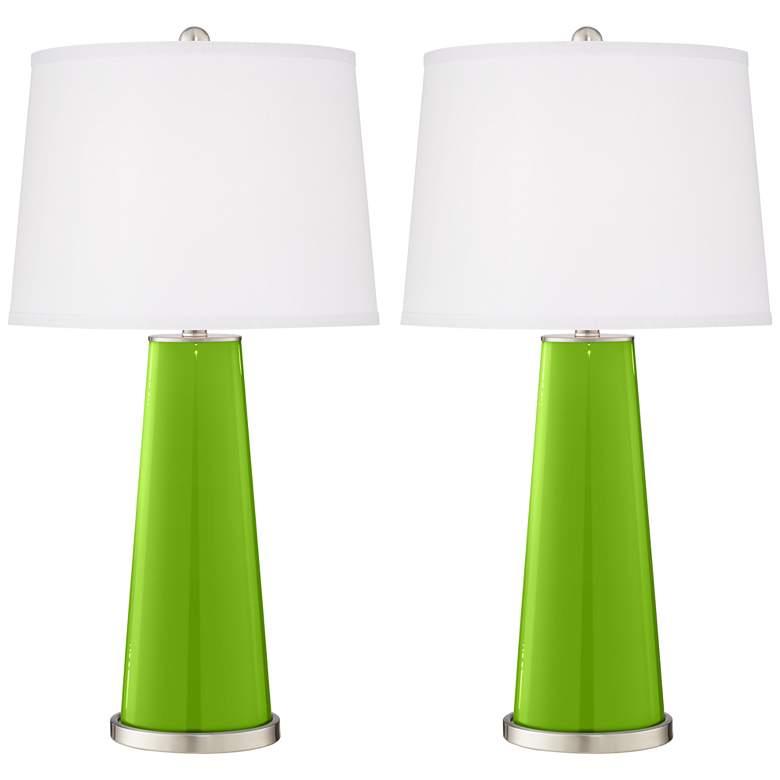 Neon Green Leo Table Lamp Set of 2