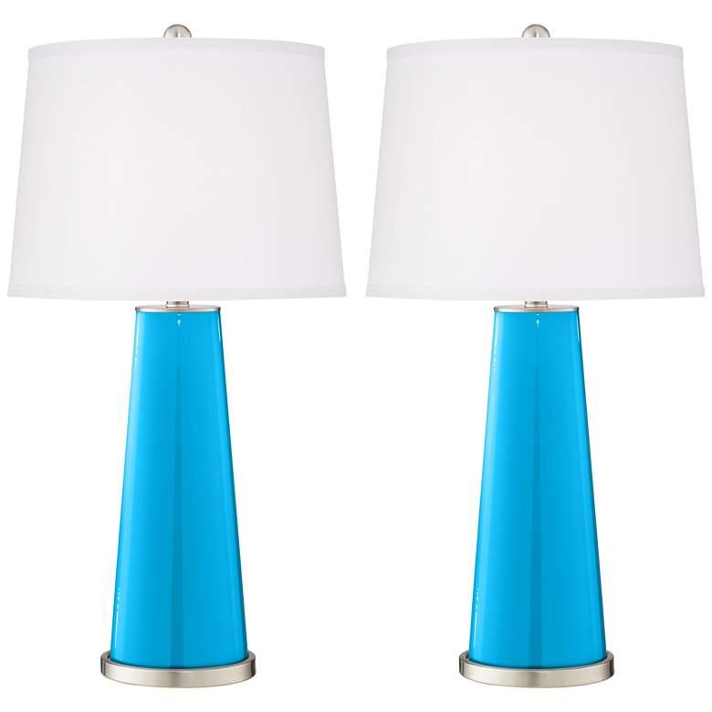 Sky Blue Leo Table Lamp Set of 2