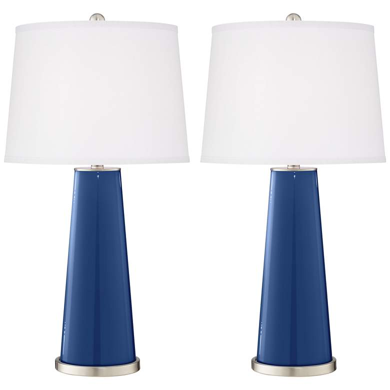 Monaco Blue Leo Table Lamp Set of 2