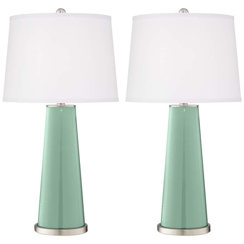 Grayed Jade Leo Table Lamp Set of 2