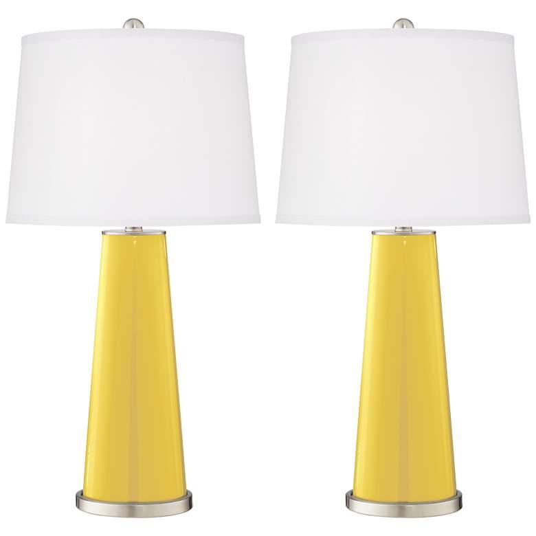 Lemon Zest Leo Table Lamp Set of 2