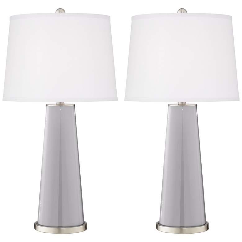 Swanky Gray Leo Table Lamp Set of 2