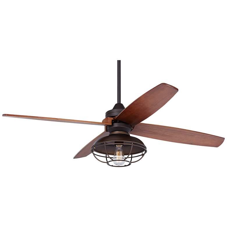 "52"" Casa Vieja Impel Franklin Park Bronze Damp Ceiling Fan"