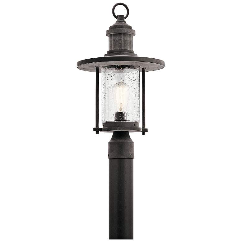 "Kichler Riverwood 19 3/4""H Weathered Zinc Outdoor Post Light"