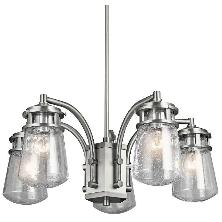 "Kichler Lyndon 24""W Brushed Aluminum Outdoor Hanging Light"