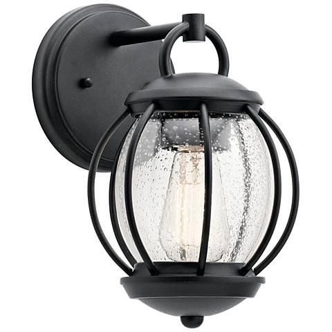 "Kichler Vandalia 11 1/2""H Textured Black Outdoor Wall Light"