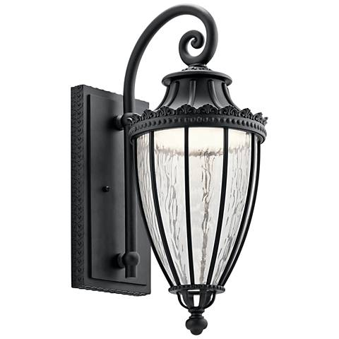 "Kichler Wakefield 22 1/4"" High Black LED Outdoor Wall Light"