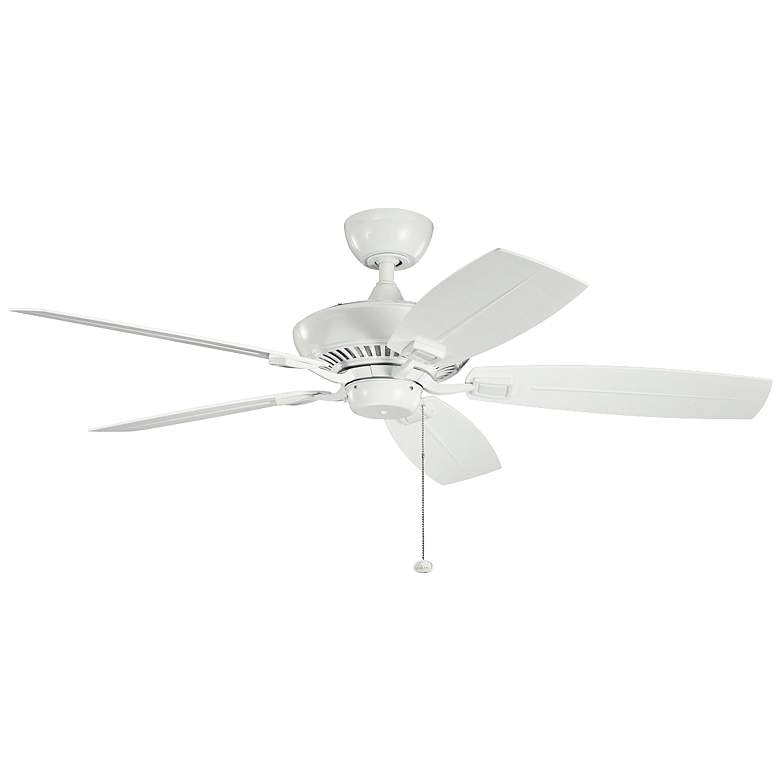 "52"" Canfield Patio Wet White Ceiling Fan"
