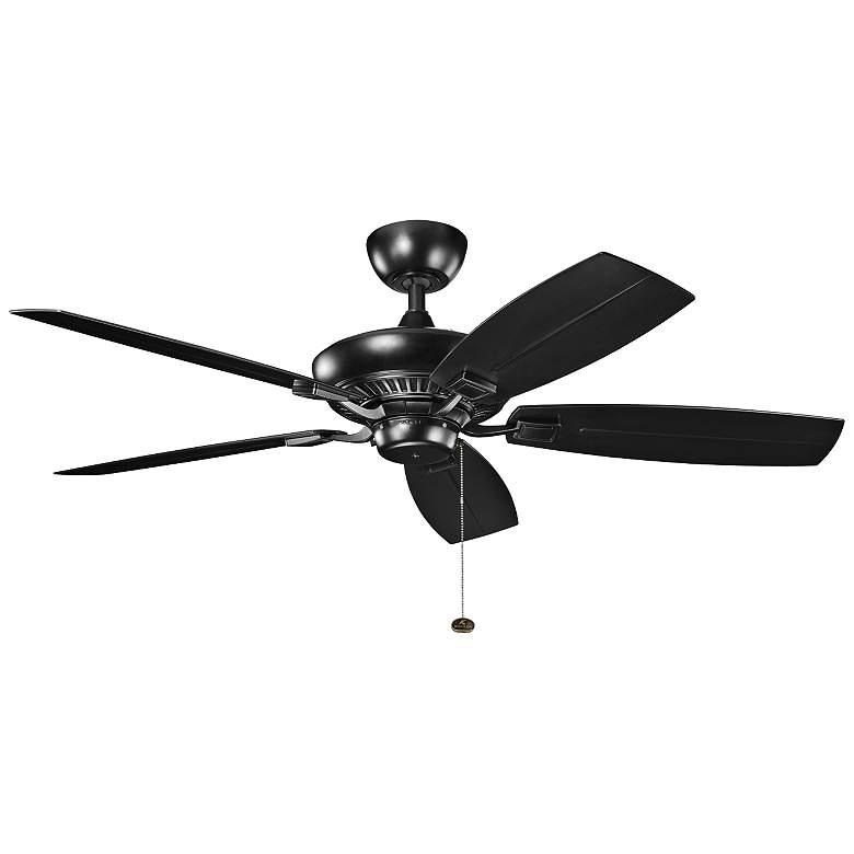 "52"" Canfield Patio Wet Satin Black Ceiling Fan"
