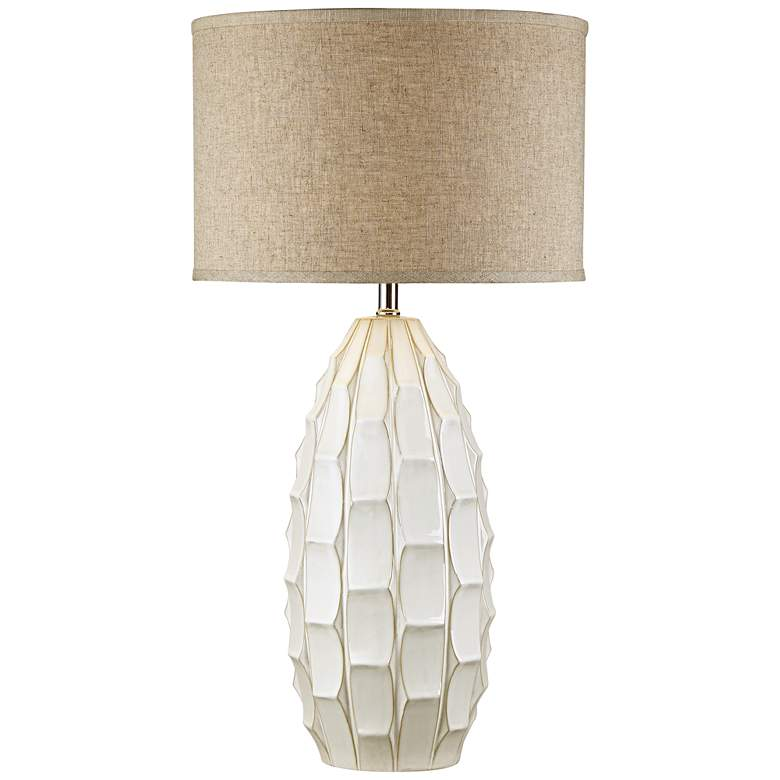 Cosgrove Oval White Ceramic Table Lamp