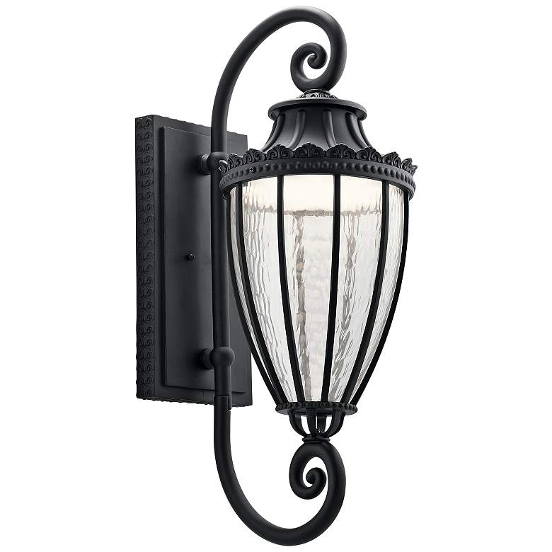 """Kichler Wakefield 29 1/2"""" High Black LED Outdoor Wall Light"""
