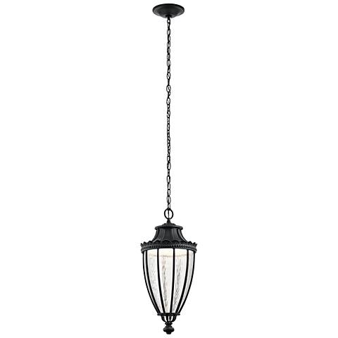 "Kichler Wakefield 23 1/4""H Black LED Outdoor Hanging Light"