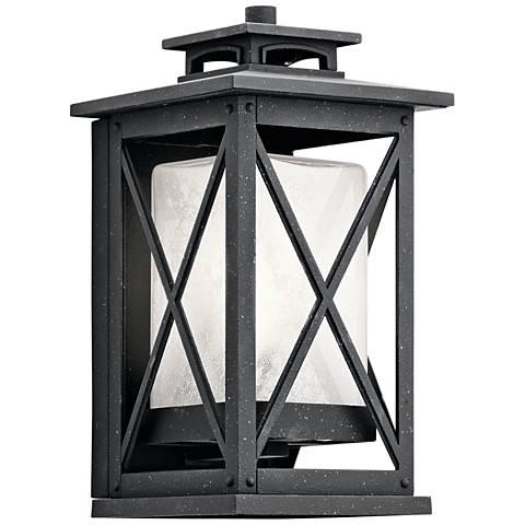 "Kichler Piedmont 12""H Distressed Black Outdoor Wall Light"