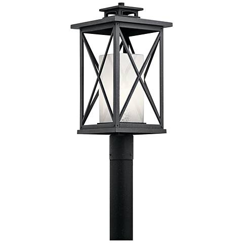"Kichler Piedmont 20 3/4"" High Black Outdoor Post Light"
