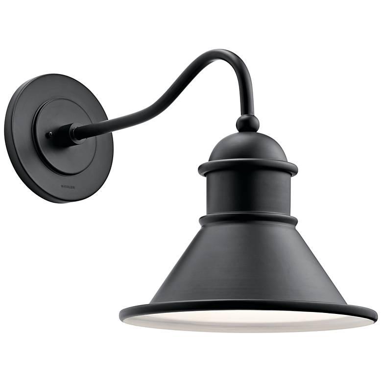 "Kichler Northland 16 3/4"" High Black Outdoor Wall Light"
