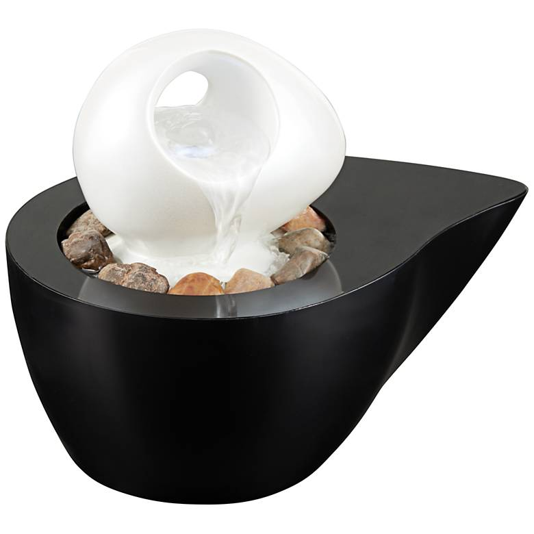 "Yin and Yang 6"" High LED Indoor Tabletop Fountain"
