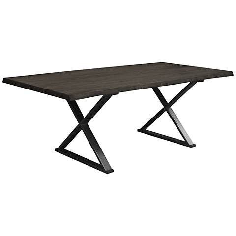 Brooklyn Small Gray Live Edge Dining Table