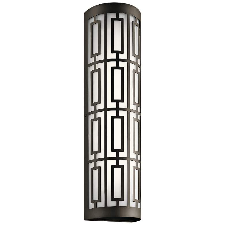 "Kichler Empire 22 1/4""H Olde Bronze 2-LED Outdoor Wall Light"