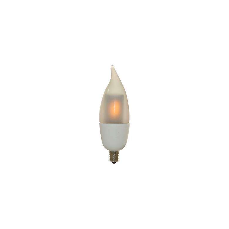 10W Equivalent Frosted 1W LED Candelabra Flicker Animation