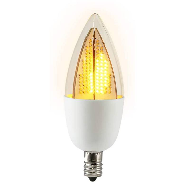 10W Equivalent Clear 1W LED Candelabra Flicker Animation